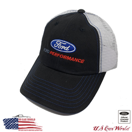 Ford Basecap - Ford Performance Logo - Mesh - Schwarz