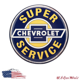 Chevrolet Vintage Blechschild - Super Chevy Service - Button Sign