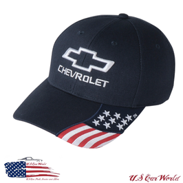 Chevrolet Basecap - Chevy Bowtie - American Flag Style - Navy