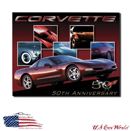 "Corvette C5 Blechschild ""Corvette C5 50th Anniversary"""