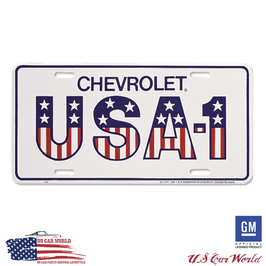 Chevrolet License Plate - Chevrolet USA-1 - lizensiert