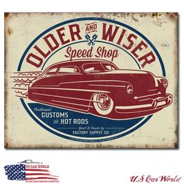"Blechschild ""Toller & Wiser - 50's Rod"""