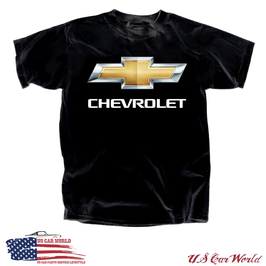 Chevrolet T-Shirt - Chevy Bowtie Chrome Logo