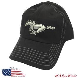 Ford Mustang Pony Basecap - Running Horse - Schwarz