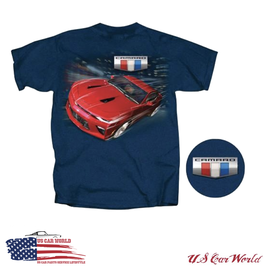 Chevrolet Camaro T-Shirt - New Generation Motiv - Petrol - SALE