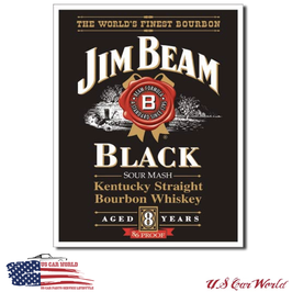 "Blechschild ""Jim Beam - Black Label"""