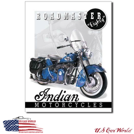 "Blechschild ""Indian Roadmaster Eighty"""