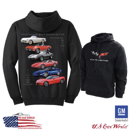 Corvette Hoodie Sweatshirt Kapuzenpullover - Nothing But Corvette - Schwarz