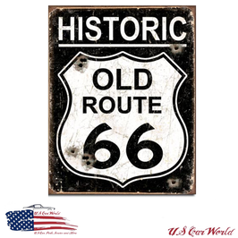 "Blechschild ""Old Route 66"""