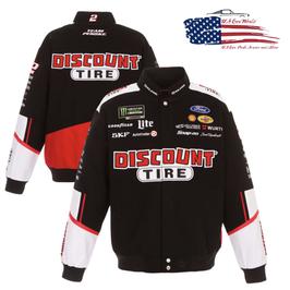 #BKDT18 - Brad Keselowski Jacke - Discount Tire - NASCAR Jacke - Schwarz