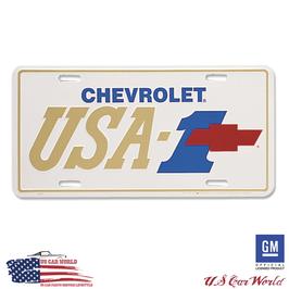 Chevrolet License Plate - CHEVY USA-1 RED BOWTIE - lizensiert