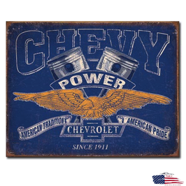 "Chevrolet Blechschild ""Chevy Power"""
