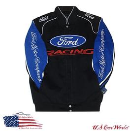 Ford Racing Jacke - Ford Racing Jacke mit bestickten Logos - Schwarz