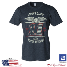 "Chevrolet T-Shirt - ""USA MADE"" T-Shirt - Chevy Motor Division - Blaugrau"