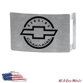 Chevrolet Buckle - Gürtelschnalle - Chevy Vintage Logo Gebürstet