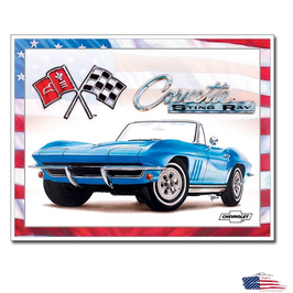 "Corvette Blechschild ""Corvette 65 Stingray"""
