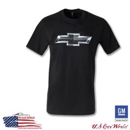 Chevrolet T-Shirt - Chevy Bowtie - Silver Bowtie - Schwarz