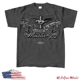 Ford Mustang T-Shirt A Stampede Is Louder Than A Heartbeat - Original & Lizensiert