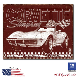 """Corvette Blechschild """"Corvette C3 - 69 Stingray"""""""