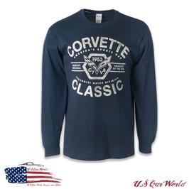 Corvette Longsleeve - Corvette since 1953 Logo - Dunkelblau
