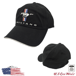 Ford Mustang Tribar Basecap - Mustang Classic Cap - Schwarz