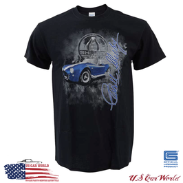 Shelby Cobra T-Shirt - Shelby Cobra Burnout - Cobra Logo - Schwarz
