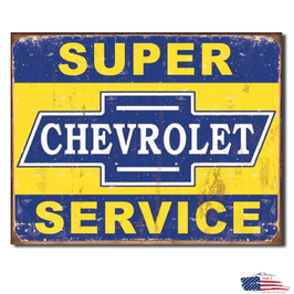 "Chevrolet Blechschild ""Super Chevy Service"""