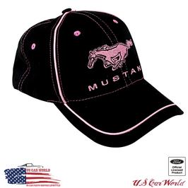 Ford Mustang Basecap - Mustang Ladies Cap - Mustang Running Horse - Schwarz/Pink