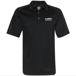 Cadillac Poloshirt - CADILLAC RACING Logo - Bestickt - Schwarz - lizensiert