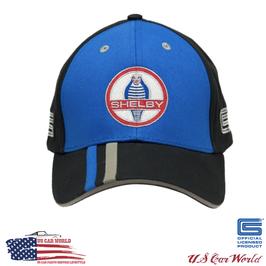 Shelby Basecap - Shelby Cobra Stripes Basecap - Schwarz/Blau