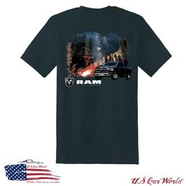 Dodge RAM T-Shirt - Trees & Stars - RAM Logo - Marine