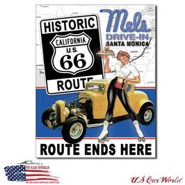 """Blechschild """"Mel's Diner - Route 66"""""""