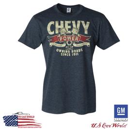Chevrolet T-Shirt - Chevy Powertrain - Chevrolet Piston - Blaugrau