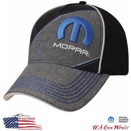 Mopar Basecap - Mopar Logo - Schwarz/Grau - Mesh