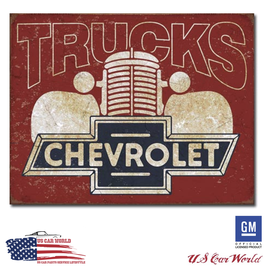 "Chevrolet Blechschild ""Chevy Trucks 40s"""