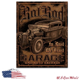 "Blechschild ""Rat Rod Garage"""