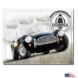 "Shelby Blechschild ""Cobra 50th"""