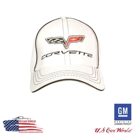 Corvette C6 Basecap - Corvette C6 Flex Cap - Weiß