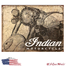 "Blechschild ""Indian Motorcycles Weathered"""