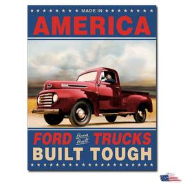 """#1909 - Ford Blechschild """"Trucks Built Tough"""""""