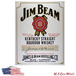 "Blechschild ""Jim Beam - White Label"""