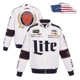 #BKW18 - Brad Keselowski Jacke - Miller Lite - NASCAR Jacke - Weiß
