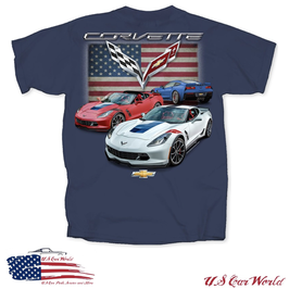 Corvette C7 T-Shirt - Motiv Corvette C7 Series - US Flag