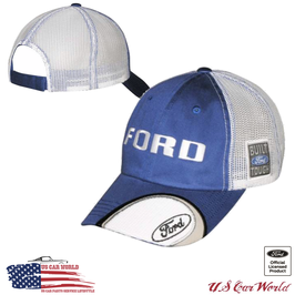 Ford Basecap - Ford Trucks Cap - Ford Built Tough - Mesh - Blau/Weiß