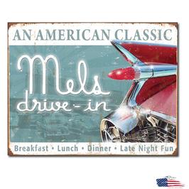 """#1677 - Diner Blechschild """"Mels Diner Classic"""""""