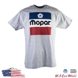 Mopar Classic Logo T-Shirt - Mopar Logo - Hellgrau