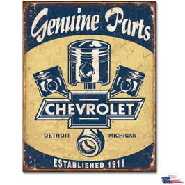 "#1722 - Chevrolet Blechschild ""Chevy Parts - Pistons"""