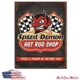 """Blechschild """"Speed Demon Hot Rods"""""""