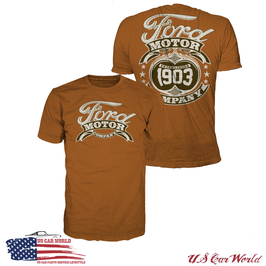 Ford T-Shirt - Ford Classic Motiv - Ford Motor Company - since 1903 - Orange