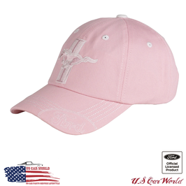 Ford Mustang Basecap Running Horse mit Ford Logo - Pink